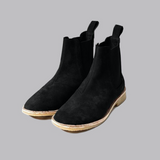 .Black Lavish Suede Chelsea Boots - STARTED Clothing - 2