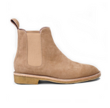 Beige Lavish Suede Chelsea Boots - STARTED Clothing - 1