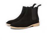 .Black Lavish Suede Chelsea Boots - STARTED Clothing - 4