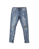 .Splatter Denim with Zips