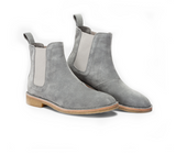 .Pearl Grey Lavish Suede Chelsea Boots - STARTED Clothing - 3