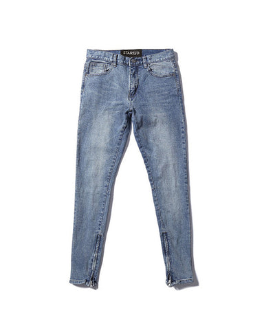 .Classic Skinny Zipper Denim