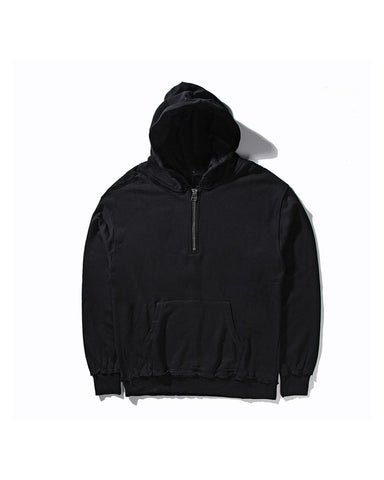 Black Hoodie with Zipper