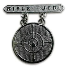 Load image into Gallery viewer, RIFLE JEDI BADGE (u.s.m.c)
