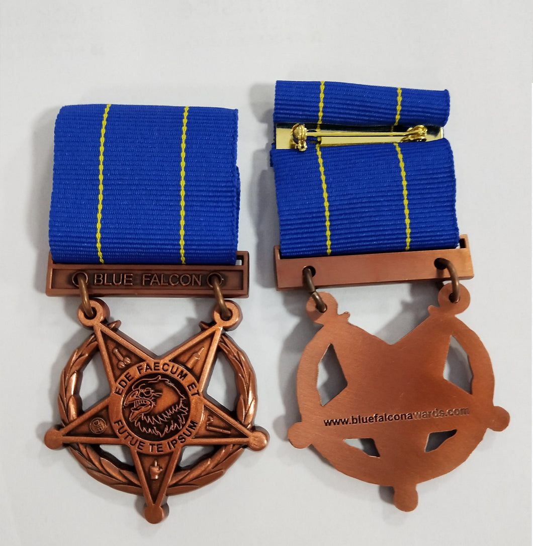 BLUE FALCON MEDAL - NEW!