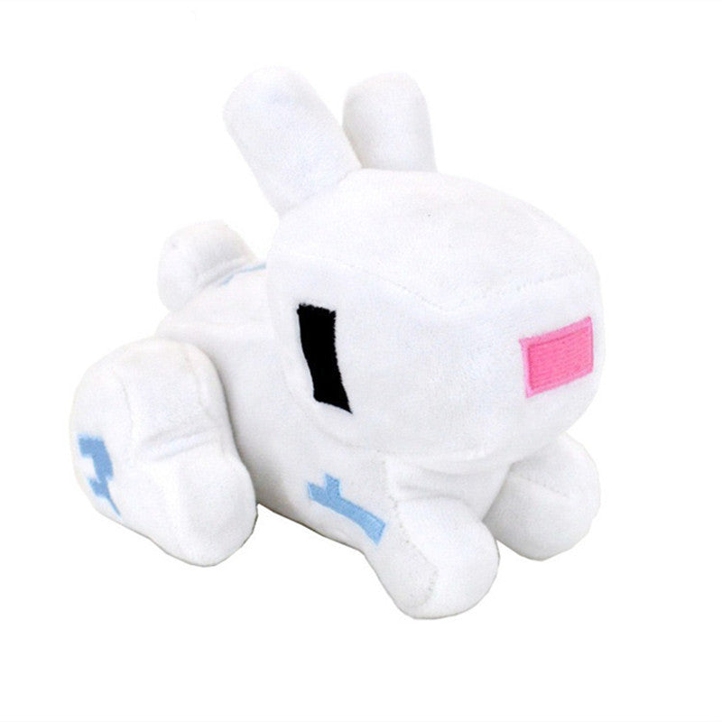 14cm minecraft rabbit plush stuffed toys free shipping to n a