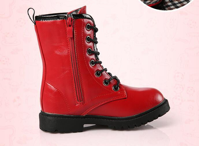 5d7139c0a83 Girls Fall & Winter Leather Boots - Free Shipping to N.A. - Puddle Season