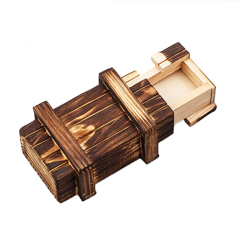 Magic Compartment Wooden Puzzle Box With Secret Drawer
