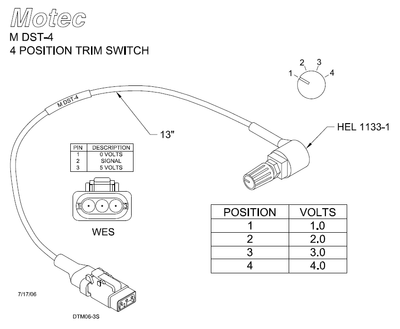 Switches - MoTeC DST-4 (4-Position Trim Switch)