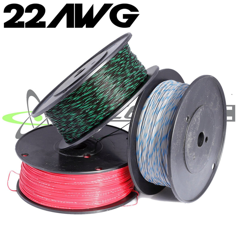 Wire - 22 AWG M22759/32 Tefzel Wire (Red W/ Stripe)