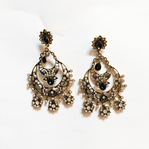 Navy Blue Chandini Earrings