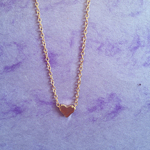 DAINTY HEART PENDANT - Purple Lily