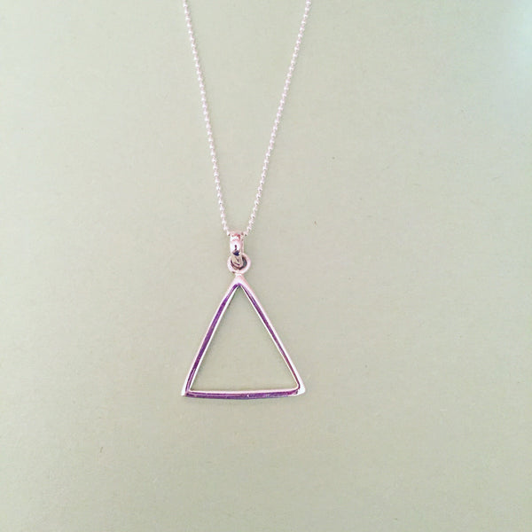 HOLLOW TRIANGLE PENDANT - Purple Lily