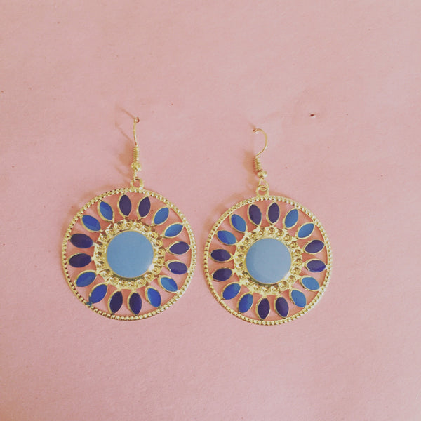 VINTAGE BLUE SUN CIRCLES - Purple Lily