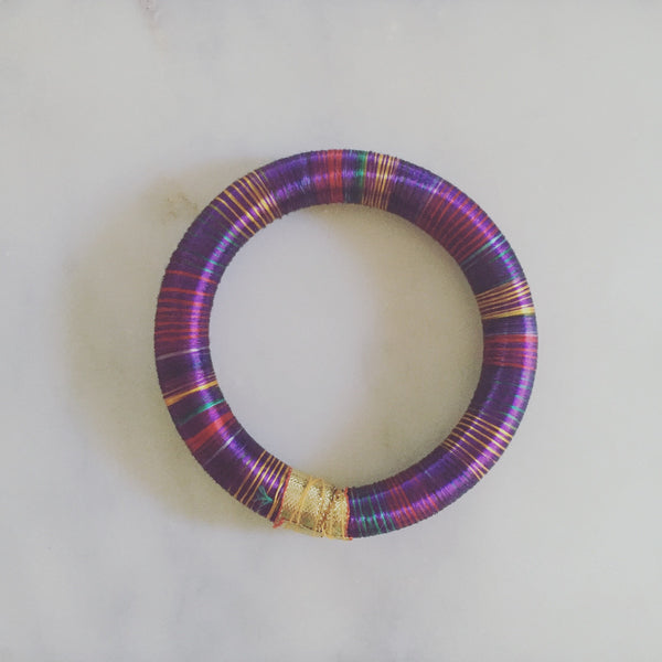 HANDWOVEN PURPLE THREAD BANGLE - Purple Lily