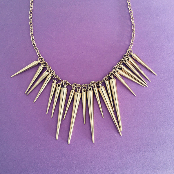 CRAZY SPIKES COLLAR - Purple Lily