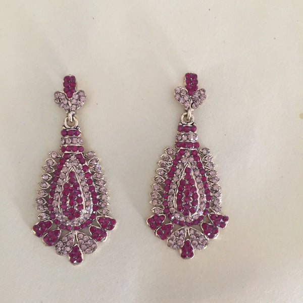 RED BUTTERFLY CRYSTAL EARRINGS - Purple Lily