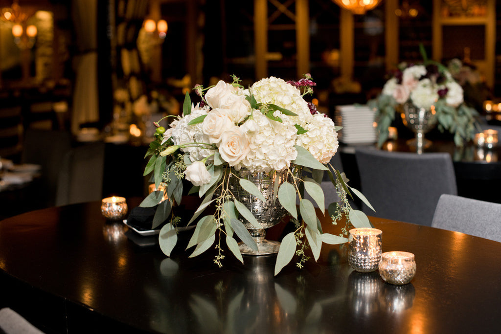 Liza & Nick's Centrepieces from Rebel Petal Florals | Photography by Genevieve Georget