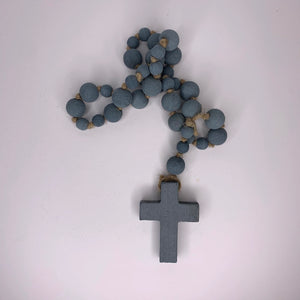Large Wood Bead Rosary