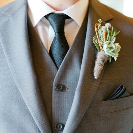 Orchid Corsage & Matching Boutonniere