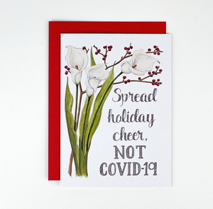 Naughty Floral Holiday Cards