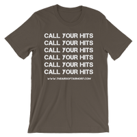 """Call Your Hits"" T-Shirt (Choose Size/Color)"