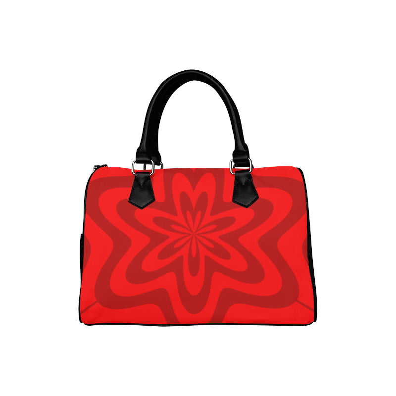 red boston handbag