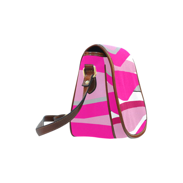 Pink Saddle Bag/Small (Model 1649) Full Customization