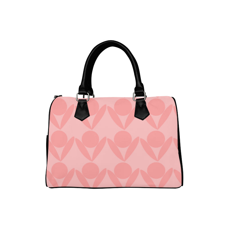 nude pink boston handbag