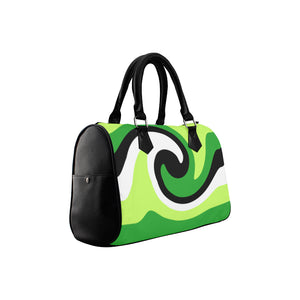 Green Black White Boston Handbag (Model 1621)