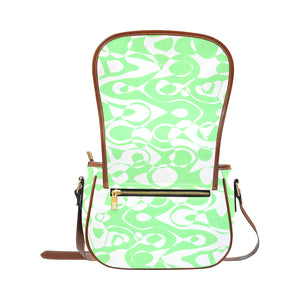 Mint Green Saddle Bag/Small (Model 1649) Full Customization