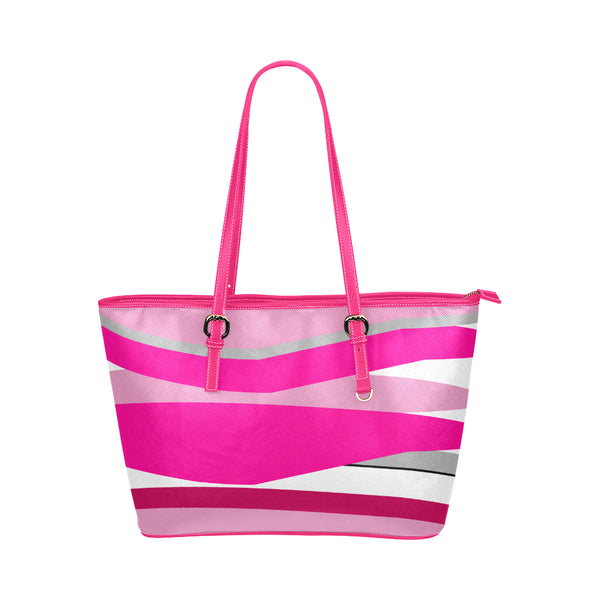 Pink Leather Tote Bag/Small (Model 1651)