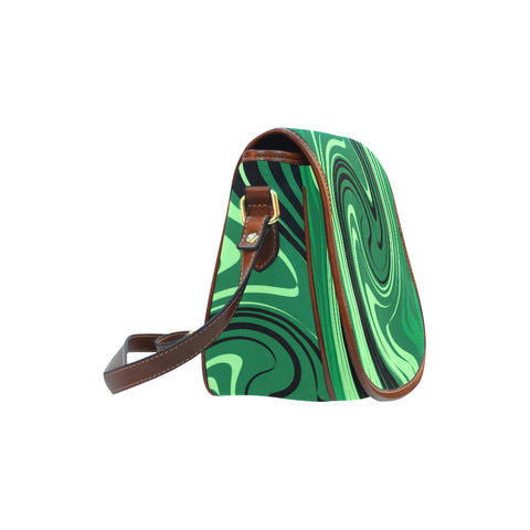 Green saddle bag
