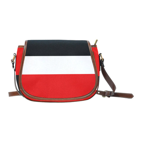 Red White Black Saddle Bag/Small (Model 1649) Full Customization