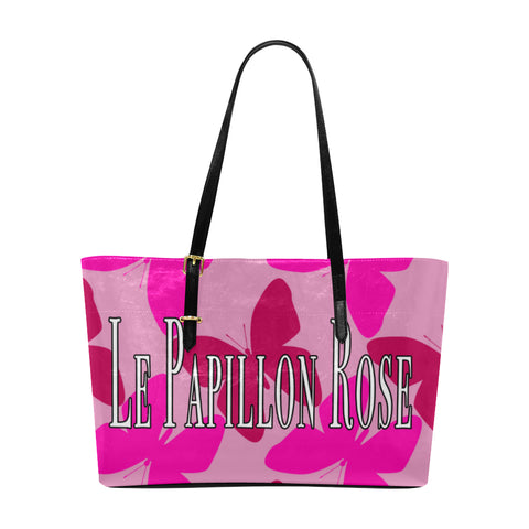 pink butterfly tote bag