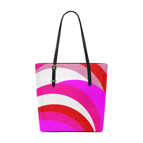 Pink Red White Euramerican Tote Bag/Small (Model 1655)