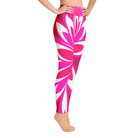 Melissa Crimson Pink Yoga Leggings
