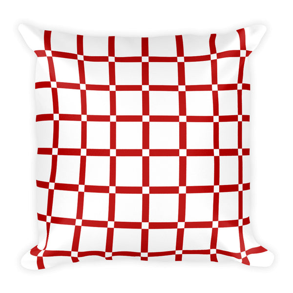 red white decorative pillow