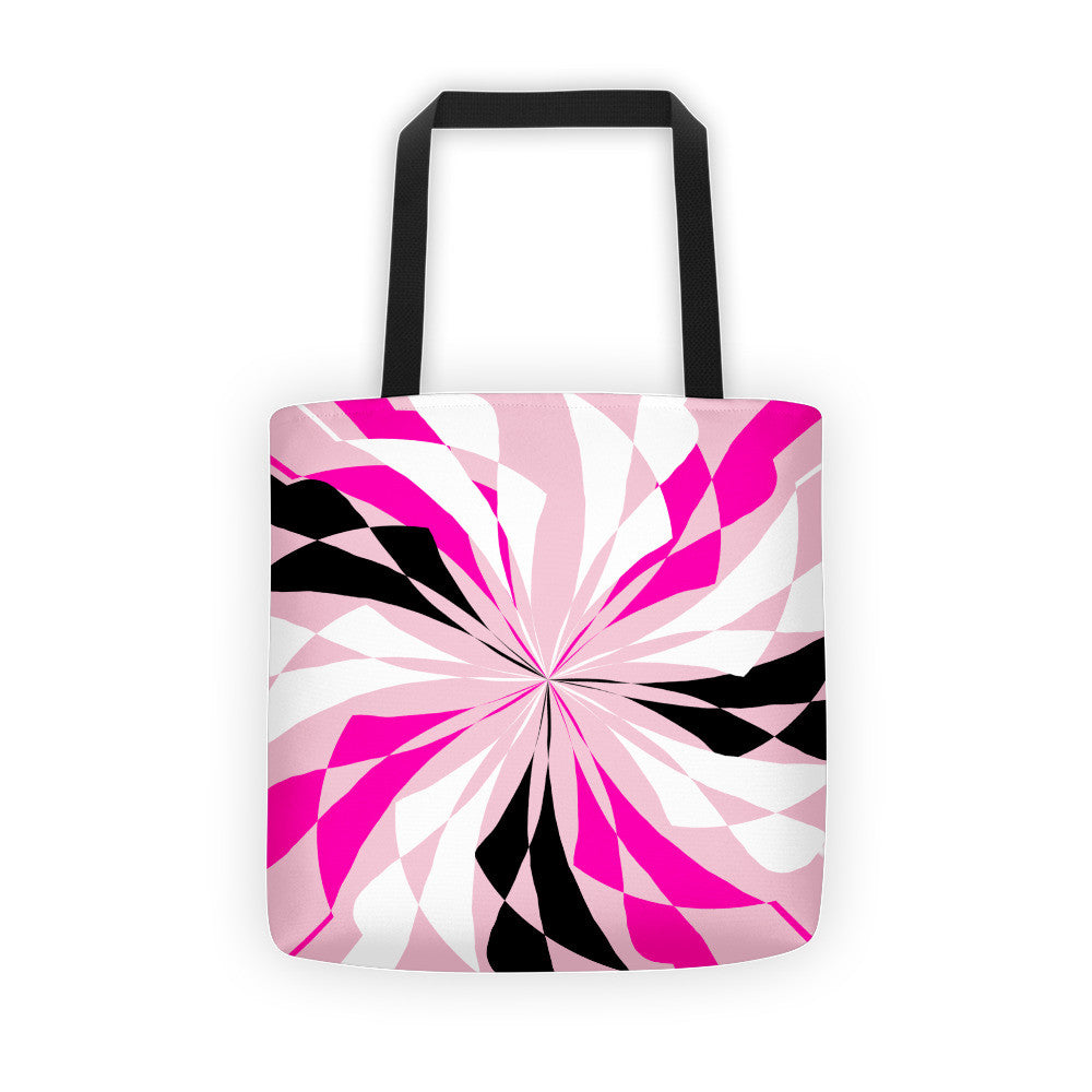 Pink Black White Canvas Tote bag
