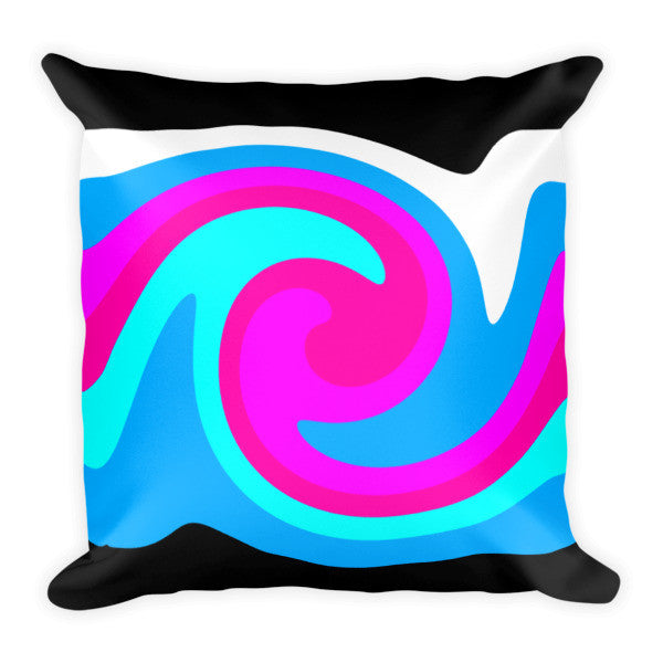 pink blue throw pillows