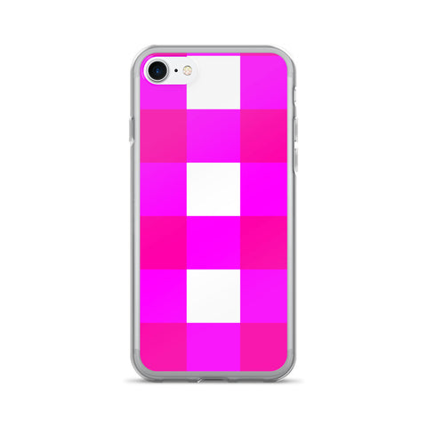 Pink White Large Gingham iPhone 7/7 Plus Case