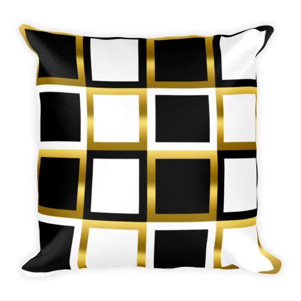 black white decorative pillow