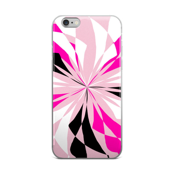 Black White Pink iPhone 5/5s/Se, 6/6s, 6/6s Plus Case