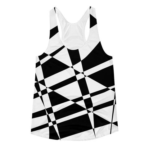 Black White Women's Racerback Tank