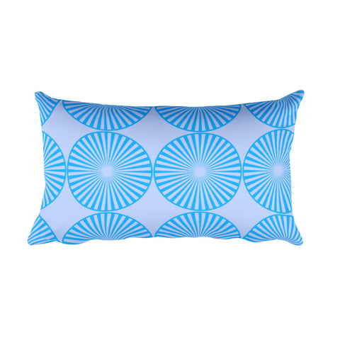Aqua Blue Rectangular Pillow