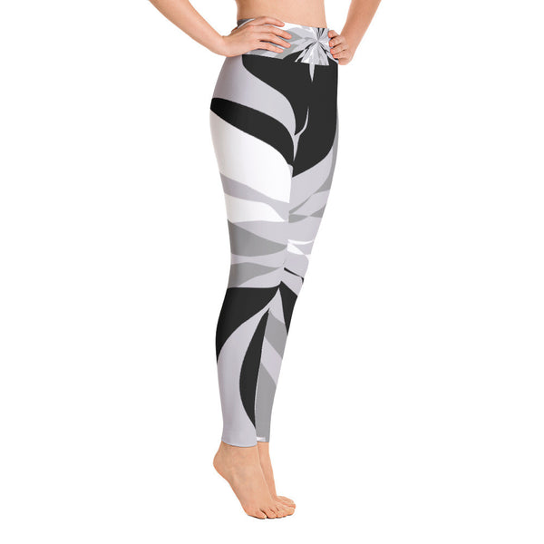 Lana Black White Yoga Leggings
