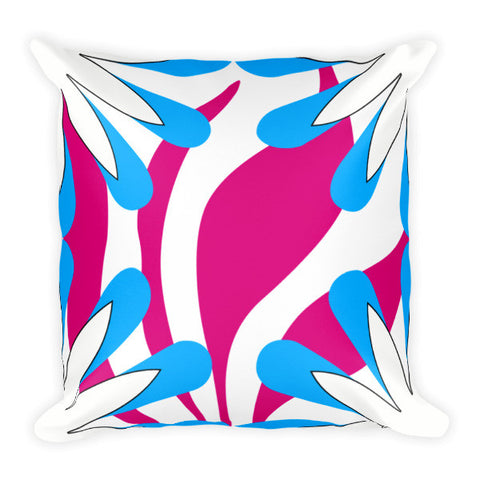 pink blue throw pillow for couch