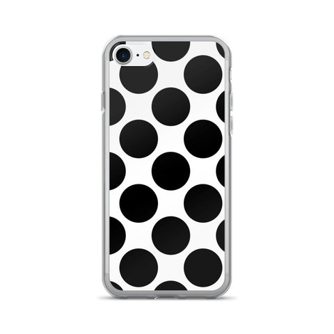 Annie Black White  Polka Dots Design iPhone 7/7 Plus Case
