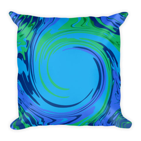 blue green throw pillows