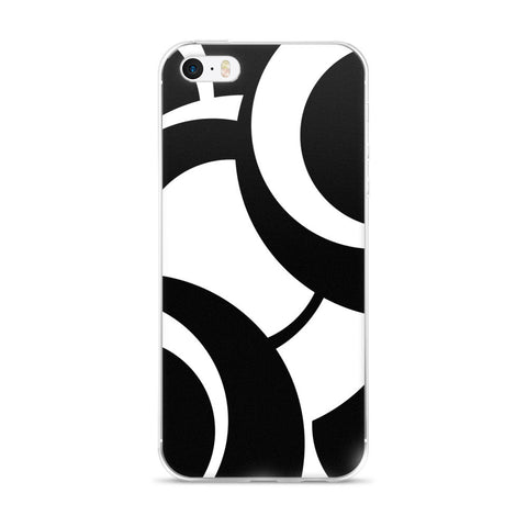 Black White iPhone 5/5s/Se, 6/6s, 6/6s Plus Case